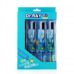 【8支超值装】雷治 D11碳丝细毛护龈牙刷 4支*2盒