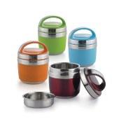 栢士德 BYSTON BST-033 1.5L玲珑保温提锅 保温饭盒蓝色、绿色、橙色、酒红色 深红色