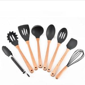 【健康不伤锅】硅胶木柄厨具八件套 居家烹饪 一套搞掂