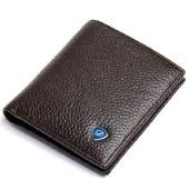 丹爵(DANJUE)头层牛皮潮流时尚男士钱包轻薄短款钱包高端钱夹礼盒装 D6026-2