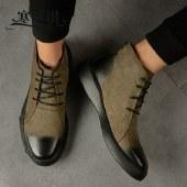 寒丝琪男鞋马丁靴男士短靴切尔西靴子牛皮复古鞋子12697