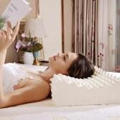 TAIHI泰嗨天然泰国乳胶枕头 高低按摩枕头 泰国原装进口  TH-001