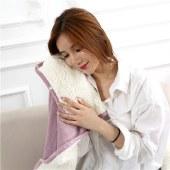 FENGMI秋冬加厚法兰绒毯双层羊羔绒毯沙发盖毯办公室披肩毯 2018-003