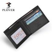 PLOVER啄木鸟头层牛皮横款功能钱包送老公GD5892-6AC黑色全国包邮