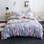 花花公子纯棉四件套 柔软舒适四季通用四件套床上用品雅漾花香