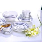 朵彩(DOCARE) 唐山骨质瓷餐具套装青花瓷骨瓷礼品米饭碗 菜盘 汤盘乔迁礼品 DC-32001J