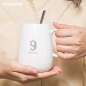 贝丽 数字9号杯 暖暖杯实用五十五度恒温办公室加热保温杯W1-A022