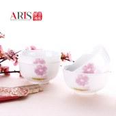 ARIS爱依瑞斯 8头餐具套装陶瓷碗简约碗具 饭碗竹筷碗筷组合 水墨花