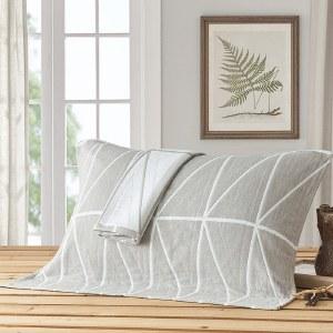 姿霖 三层纯棉纱布枕头巾一对装 全棉柔软舒适52x75cmx2条22207470004