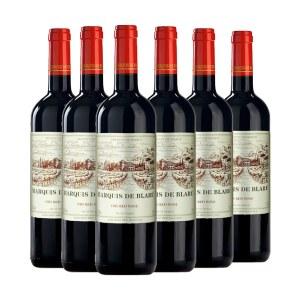 【法国进口】布拉雷侯爵干红葡萄酒750ml 六支装