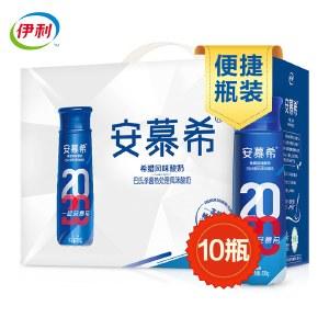 伊利 安慕希 高端畅饮型 希腊风味酸奶原味 230g*10瓶/箱(礼盒装)