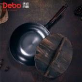 Debo德铂德国品牌物理不粘炒锅无涂层精铁铸铁炒菜锅臻匠32cm DEP-709