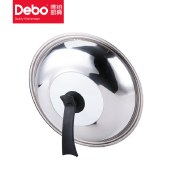 Debo 德铂炒锅炒菜锅32cm碳钢不粘锅加厚底可视可立钢化锅盖希勒DEP-272