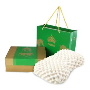 泰嗨 美容按摩乳胶枕头礼袋装 枕心带枕套 泰国原装进口,90%乳胶 TPA02-05