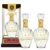 五液股份 五粮情 500ml*2瓶 52度水晶瓶浓香型白酒