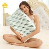 泰嗨 负离子高低平面乳胶枕头 枕心带枕套 泰国原装进口,90%乳胶