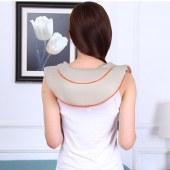 践程 轻锤款肩颈摩仪器 披肩膀颈椎按摩护颈仪肩部颈部按摩枕 米色 P30