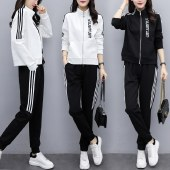 海谜璃2020秋季新款大码女装运动休闲两件套HBF2404