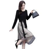 海谜璃连衣裙女2020年秋装新款收腰显瘦气质女神范温柔风春秋季长袖裙子HBF2434