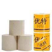 优特本色卷筒纸27卷 卫生纸巾厕所纸家用实惠装厕纸手纸家庭装