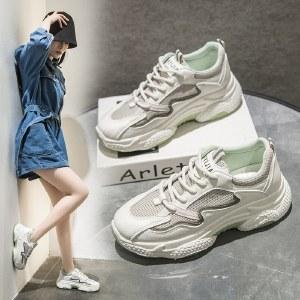 【精选好物】迪涛 2020秋季新款韩版增高老爹鞋女ins休闲厚底运动鞋