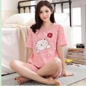 海谜璃短袖睡衣女夏短裤薄款卡通女士睡衣新品韩版可爱家居服套装HBF2339