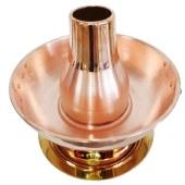 欧锐铂 和顺万家纯铜两用火锅 插电型铜火锅 ORB-076