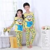 海谜璃 儿童长袖睡衣男童女童睡衣薄款家居服套装HBF2340