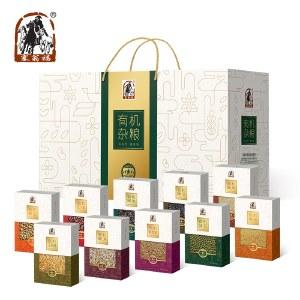 塞翁福有机杂粮10盒装(绿色)黑米黄小米绿豆玉米仁燕麦米