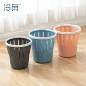 冷角 拉圾桶塑料客厅垃圾桶厨房卫生间卧室家用带压圈小厕所拉圾筒办公室纸篓【新品上市】