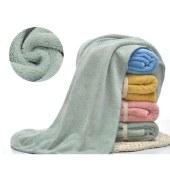 斜月三星 大浴巾70*140cm 珊瑚绒柔软超强吸水速干 成人男女家用洗澡巾