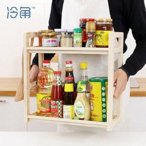 冷角 厨房置物架厨具收纳油盐酱醋调创意料架子落地用品用具小百货塑料【新品上市】