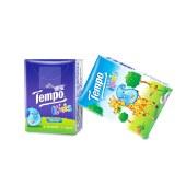 得宝(Tempo)儿童手帕纸4层24小包 迷你手帕纸(天然无香)