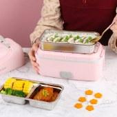 艾贝丽 便携式电热饭盒 可插电保温饭盒加热饭盒多功能电热饭盒 MD-666