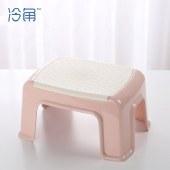 冷角 加厚塑料凳家用小凳子方凳创意时尚浴室板凳客厅椅子大人矮凳【新品上市】