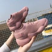 【精选好物】迪涛 ins潮弹力袜子鞋飞织休闲运动鞋女老爹鞋
