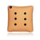 践程 充电式按摩靠枕 车用家用舒压按摩靠枕旅行枕按摩腰部护背护头枕 M7