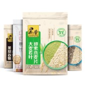 黑牛 燕麦片525gx2袋 多种口味红豆薏米燕麦粉、大麦若叶酵素、黑珍谷物、牛奶益生元
