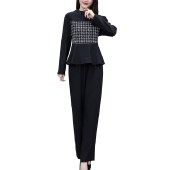 海谜璃2020秋季新款大码女装长袖春秋套装HBF2407