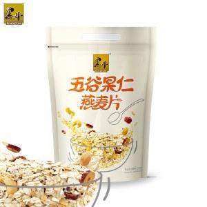 黑牛 燕麦片800gx2袋 多种口味椰丝谷物、五谷果仁 (拉链立袋)