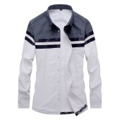 海谜璃冬季新款男加绒衬衫修身插色男式保暖衬衣加厚加绒衬衣男士潮HBF2584