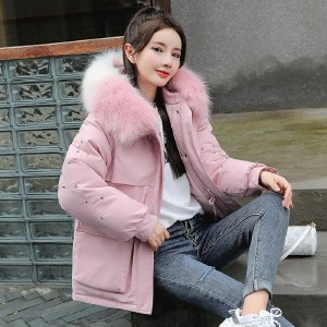 海谜璃派克服女羽绒棉服女时尚韩版加厚棉衣冬季外套棉袄HBF2565