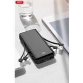 XO 数显 自带电源线20000mAh移动电源充电宝通用移动充无线充 XO-PR109