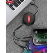 XO  一拖三伸缩数据线 手机通用充电线无线传输线 XO-NB142