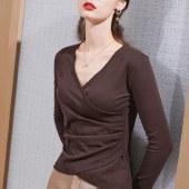 FENGMI百搭性感锁骨心机设计感修身上衣202010