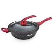 翰乐 一品良厨 麦饭石炒锅韩式厨具不粘锅电磁炉煤气灶通用一锅双盖 X6751