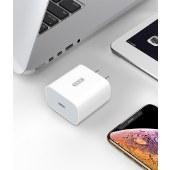 XO  18W PD快速充电器 充电插头手机充电器通用插头 白色 XO-L40