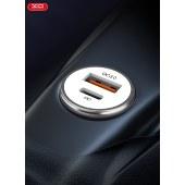 XO  QC3.0+PD快充 迷你车载充电器 无线充快充电源移动充无线充电充电宝 XO-CC25