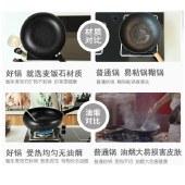 翰乐 回飞锅 麦饭石不粘锅炒锅 多功能家用炒菜锅少油烟 X7720