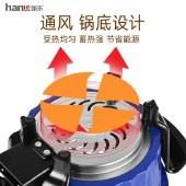 翰乐 学生食代 多功能迷你电热锅学生锅电煮锅家用小功率真空微压蒸煮两用锅 HL-A2